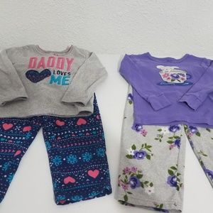3T fleece pajama bundle